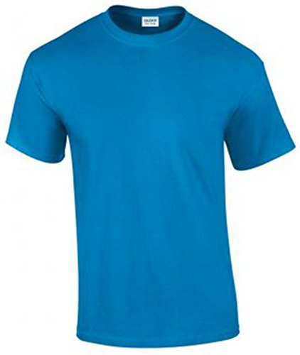 Gildan Herren Ultra Cotton T-Shirt Kurzärmlig Blau - Saphirblau