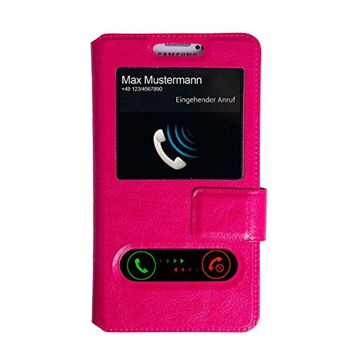 Unbekannt Flipcase mit Fenster Pink für TP-Link Neffos C5 Max