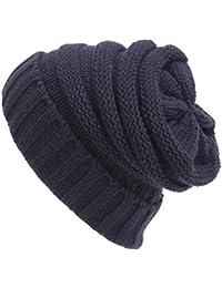 ECYC Mujer Hombre Gorros Sombreros de Invierno Gorros de Punto Casual  Skullies Beanie ba2e98c4115