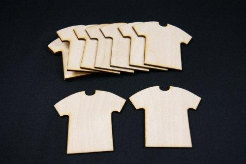 10 x hölzerne T-Shirt-Form T-Shirt Form Decoupage glatt Gestalt Handwerk (W12)