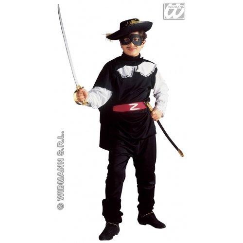Widmann Kostüm für Kinder Maskierter Bandit (158cm/11-13Jahre), schwarz, Größe S, - Black Bandit Kostüm