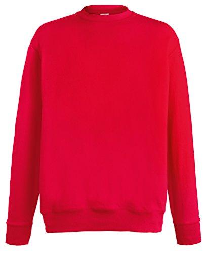 Leggera felpa set-in Rosso