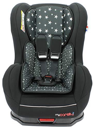 mycarsit Nania Isofix Autositz für Kinder, 9bis 18kg, black star