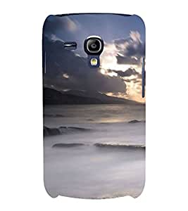 Fuson Designer Back Case Cover for Samsung Galaxy S3 Mini I8190 :: Samsung I8190 Galaxy S Iii Mini :: Samsung I8190N Galaxy S Iii Mini (Distant Mountains hills Sea Rough Sea Cloudy Sky)