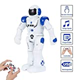 SUNNOW Remote Control Intelligent Robot Toy Programmable Interactive Gesture Sensing Robot with LED