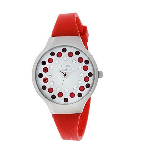 senoras-think-positiver-modelo-se-w89-correa-mediana-de-acero-de-silicona-de-color-rojo