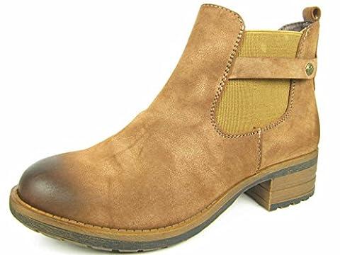 Rieker Damen Stiefelette Braun, Schuhgröße:EUR 39