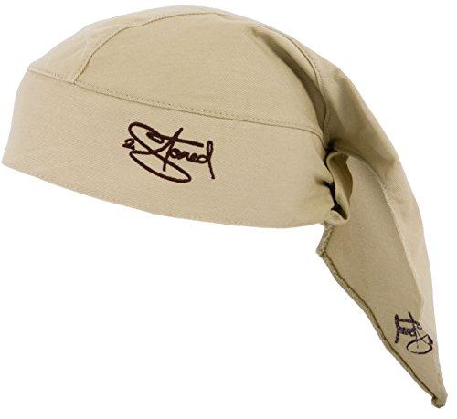 2Stoned Bandana Kopftuch Classic in Beige mit Stick für Männer, Frauen und Kinder (Winter Bandana)