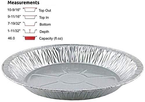 pactogo 27,9cm Aluminium Folie Pie Pfanne extra tiefen Einweg Zinn Teller mit Kuppel aus durchsichtigem Kunststoff Pans Only silber Aluminium Pie Pan