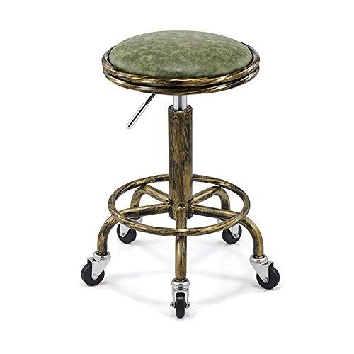 BTPDIAN Kunstleder Küche Frühstück Bar Stuhl mit Rückenlehne Unterstützung Armlehnen höhenverstellbar Starke Chrom Basis maximale Belastung Küche bar (Farbe : 6, größe : H64cm)
