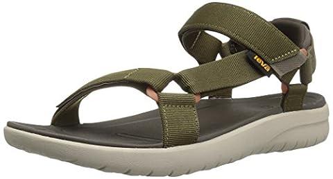 Teva Men Sanborn Universal M's Open-Toe Sandals, Green (Olive), 10 UK 44 1/2 EU