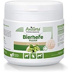 AniForte reine Bierhefe Pulver 250g, Naturprodukt für Hunde, Katzen und Pferde, Glänzendes und kräftiges Fell, Vitale Haut, Reich an B-Vitaminen, Mineralien, Spurenelementen