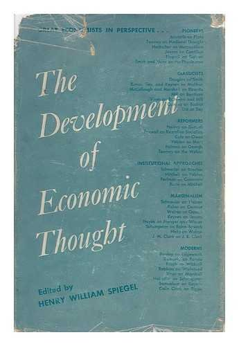 The Development of Economic Thought; Great Economists in Perspective