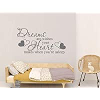 Dreams are wishes wall sticker quote