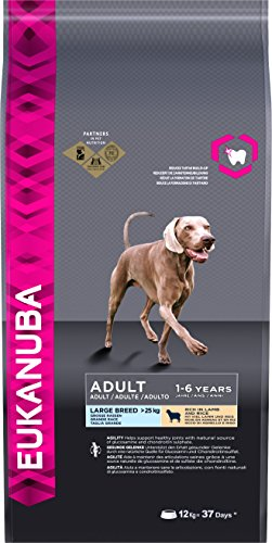 Eukanuba Adult Breed Lamb and Rice, Large, 12 Kg, Pack of 1