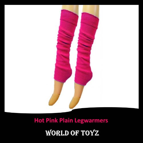 Luxurious-Ladies-80s-Dance-Plain-Ribbed-Leg-Warmers-Neon-Leg-warmers-in-Hot-Pink-15-Colours