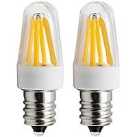 1819®E12 Bombilla LED 4 x Filamento 2W Bajo Consumo Lámpara blanca cálida 3000K AC