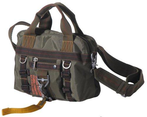 Preisvergleich Produktbild HANDTASCHE Tasche Bag Umhängetasche Schultertasche Nylon olivgrün klein TOP