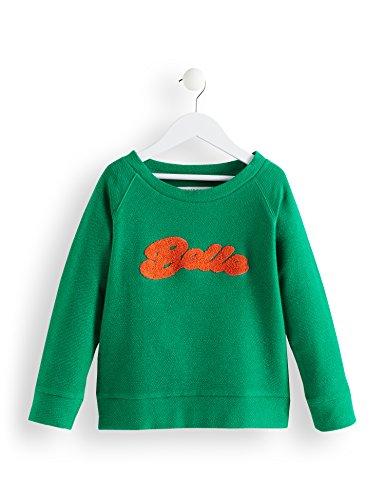 RED WAGON Mädchen Sweatshirt mit Plüsch-Slogan, Grün (Simply Taupe 16-0906 Tcx), 116 (Herstellergröße: 6 Jahre)