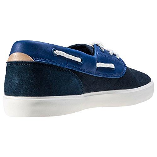 Lacoste Homme Jouer pont 117 1 CAM Chaussures bateau, Bleu Bleu
