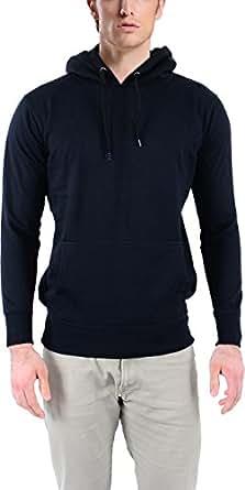 Vibgyor Full Sleeve Hooded Men's Black Sweatshirt