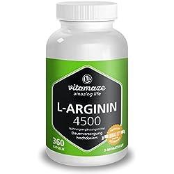 L-ARGININA AD ALTO DOSAGGIO, 360 capsule per 3 mesi, prodotto tedesco di qualità, indicato per chi soffre di allergie, ora ad un prezzo promozionale e resa gratuita entro 30 giorni!
