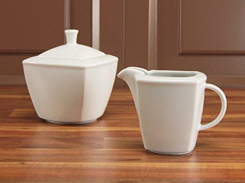 CreaTable 12330, Serie Victoria weiß, Geschirrset Milch- und Zuckerset 2 teilig