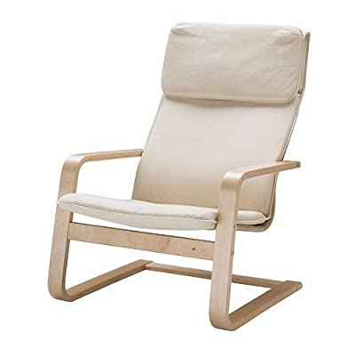 "IKEA armchair ""Pello"" cantilever relax chair - birch veneer - cotton fabric - low-cost UK chair shop."