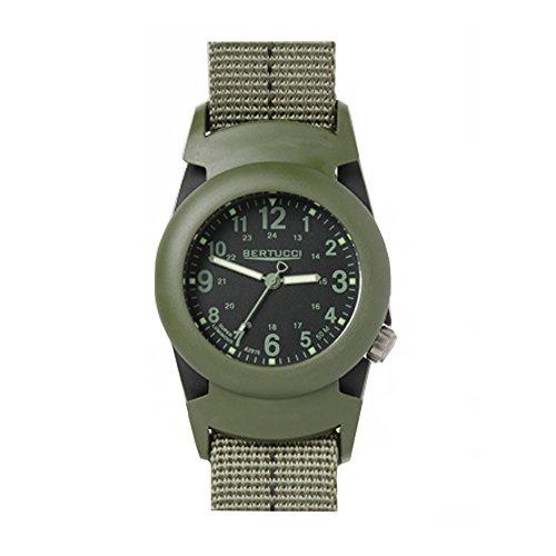 Bertucci 11047fascia quadrante nero da uomo in policarbonato grigio Nylon Smart Watch