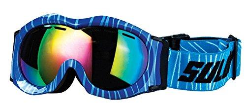 SULOV bambini occhiali da sci Monty, doppio vetro, Unisex, Kinder Skibrille MONTY, Doppelverglasung, Blau, Taglia (Vetro Occhiali)