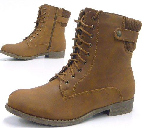 Sportliche Damen Stiefelette Robuste Outdoor Boots Braun