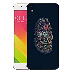 Snoogg Monster Praying Designer Protective Back Case Cover For OPPO F1 PLUS