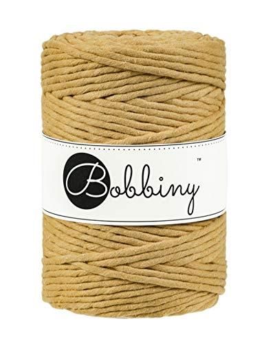 Bobbiny Macrame Cords 5 mm - 100 m Wahl (Mustard) Mustard Cord