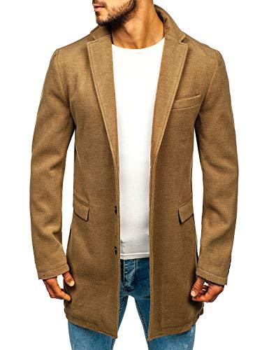 BOLF Hombre Abrigo Botonadura Sencilla J.Boyz 1047