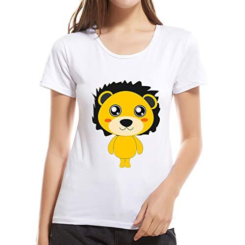 was für EIN schönes T-Shirt für Mädchen, Frauen Mode Kreative Print Kurzarm Bluse Top Damen Sommer O Neck Comfy Tunika - Solid-knopf-front-shirt