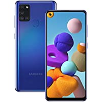 Samsung Galaxy A21s Android Smartphone, SIM Free Mobile Phone, Blue (UK Version)