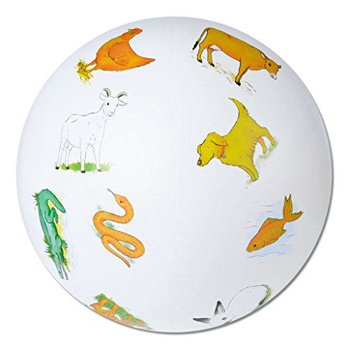 Wiemann Lehrmittel Talk Balls zur Spracherlernung und Wortschatzerweiterung - Ø ca. 40 cm - Verschiedene Themen (Tiere)