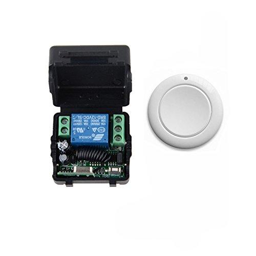12v Ac Alarm Remote (Lejin neue Design- Fernbedienung 12V 1 Kanal RF 10A Funkfernbedienung Lichtschalter Empfänger Sender System für Garage Tür 433MHz Funkrelais Funkfernsteuerung Lichtschalter mit Sender modellbau)