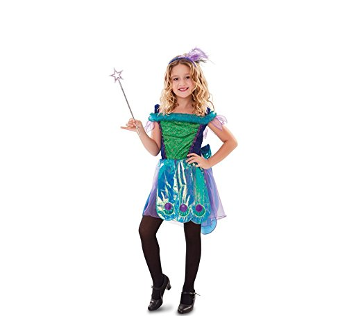 Fyasa 706385-t02 Fantasy Fairy Fancy Dress Kostüm, blau, mittel (Fairy Fancy Dress Kostüme)