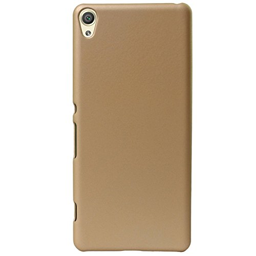 Johra For Vivo Y51L Back Cover, Slim Matte Finish Rubberized Gold Golden Hard Back Case Cover for Vivo Y51L Back Cover