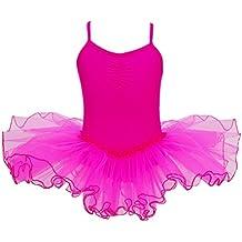 YiZYiF Mädchen Ballettanzug Ballettkleid Ballett Trikot Turnanzug Mädchen Kleider 98 104 110 116 122 128 140 152 164