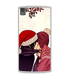 Kissing Couple 2D Hard Polycarbonate Designer Back Case Cover for OnePlus X :: One Plus X :: One+X