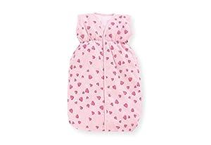 PINOLINO Herzchen Bolso de Dormir para muñecas - Accesorios para muñecas (Bolso de Dormir para muñecas, 2 año(s), Rosa, 9 año(s), Algodón, Niño)