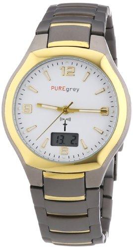 Pure grey Titan Herren - Funkuhr 1668.9190