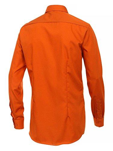 Venti Messieurs Chemise d'affaires Également disponible en grandes tailles 100 % coton orange foncé