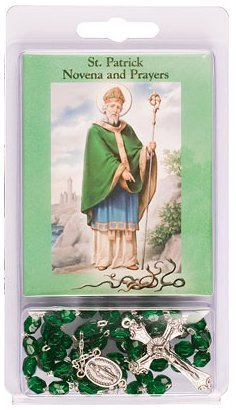St. Patrick Day Gifts- Saint Patrick Rosary Beads & Novena Prayer Book.