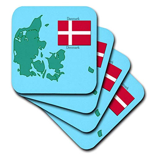 777images Flaggen und Karten–Die Karte und Flagge von Dänemark mit Dänemark in Englisch und...