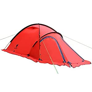 GEERTOP® Tente Alpine Trekking 4 Saisons 2 Personnes - Léger Imperméable - Pour Camping Randonnée Escalade - 120 x 210 x 100 cm (Rouge)
