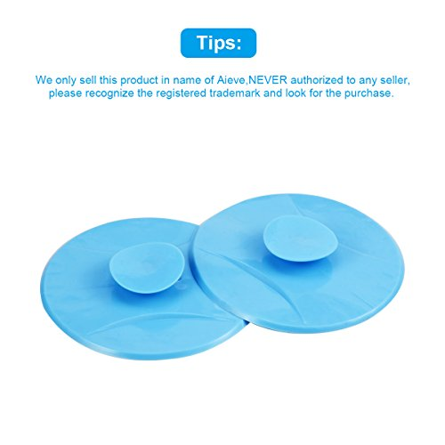 Drain Stoppers – Aieve 2 Pack Drain Cover Drain Plug Sink Stoppers Silicone Drain Stoppers for Bathtubs 4.2 Inch Tub Stopper for Bathtub Bath Tub Shower Laundry Kitchen Sink Bathroom Baby Bath (Blue)