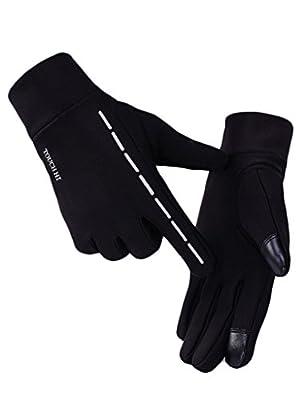 Winterhandschuhe, Touchscreen Handschuhe Winddichte Fahrradhandschuhe Warme Vollfingerhandschuhe für Damen und Herren ( 4Farbe )